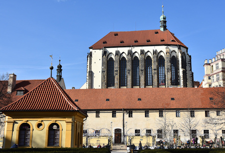 Church of Santa Maria Snow with Franciscaner MOnastery in Prague