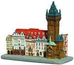 Prague Old Town Hall ceramic model