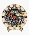 Prague Astronomical Clock small wooden clock