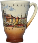 Prague Skyline set of six ceramic liquor cups