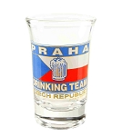 Set of six Praha Drinking Team liquor glasses
