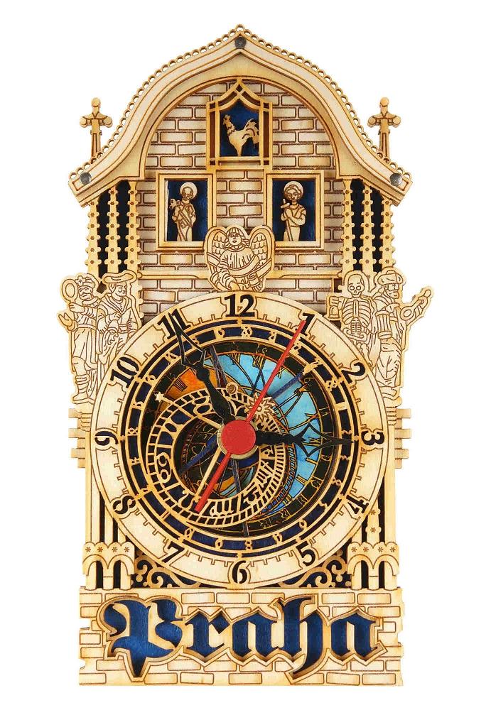 Prague Astronomical Wooden Clock Half Tower