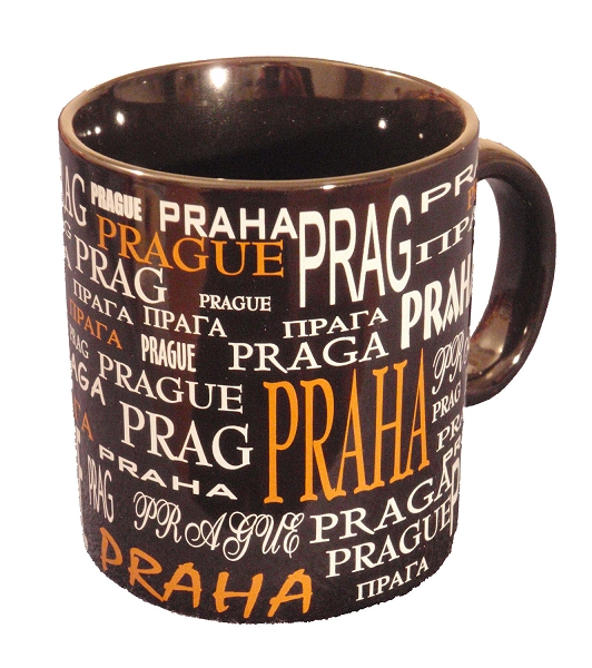 The Names of Prague coffee mug