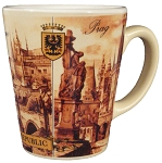 Prague Castle & Charles Bridge cone coffee mug
