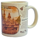 Prague Old Town Square brown coffee mug