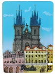 Prague Tyn Church ceramic magnet