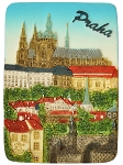 Prague Castle & Lesser Town ceramic magnet