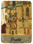 Prague Astronomical Clock ceramic magnet