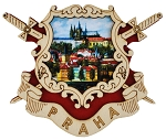 Prague Arms & Castle wooden picture magnet
