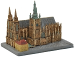 Prague St. Vitus Cathedral ceramic model