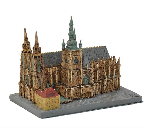Prague Castle St Vitus Cathedral Ceramic Model