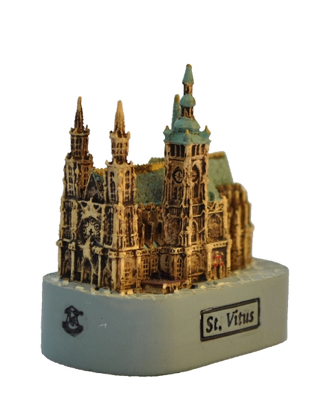Prague St. Vitus Cathedral small ceramic model
