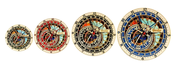 Prague Astronomical Wooden Wall Clock