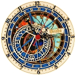 Prague Astronomical Clock wooden clock