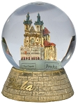 Prague Tyn Church snow globe