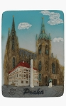 Prague St. Vitus Cathedral ceramic magnet