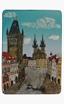 Prague Old Town Square Hall ceramic magnet