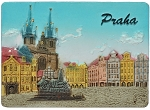Prague Old Town Square Houses ceramic magnet