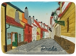 Prague Golden Lane ceramic magnet