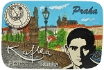 Prague Kafka Skyline ceramic magnet