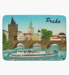 Prague Charles Bridge Cruise ceramic magnet