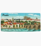Prague Castle & Bridge Panorama ceramic magnet