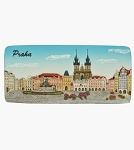 Prague Old Town Square Panorama ceramic magnet