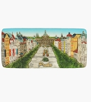 Prague Venceslav Square Panorama ceramic magnet