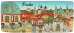 Prague Old Town Towers Panorama ceramic magnet