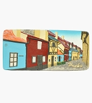 Prague Golden Lane Panorama ceramic magnet