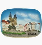 Prague Old Town Square ceramic picture