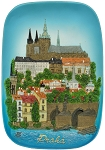 Prague Castle & Lesser Town ceramic picture