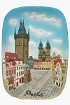 Prague Old Town Square Hall ceramic picture