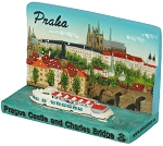 Prague Castle Skyline ceramic picture stand