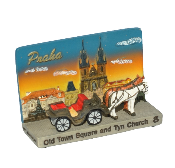 Prague Old Town Square ceramic picture stand