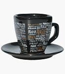 The Names of Prague coffee cup and plate