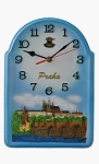 Prague Castle Skyline ceramic wall clock