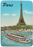 Paris Eiffel Tower Seina ceramic magnet