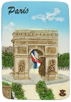 Paris Arc de Triomphe ceramic magnet