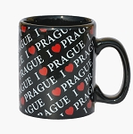 I Love PRG small coffee mug