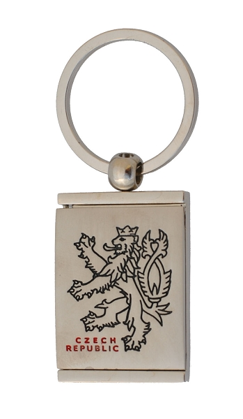 Czech Lion key tag