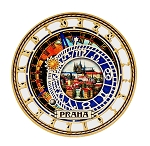 Prague Astronomical Clock wooden beer mats
