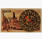 Prague Charles Bridge Tower wooden board clock