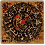 Prague Astronomical Clock square wooden clock