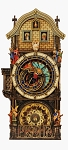 Prague Astronomical Clock painted wooden replica