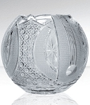 Bohemia Crystal Glass round vase Royal