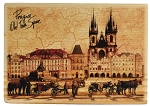 Prague Old Town Square Horses wooden picture