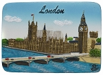 London Westminster & Big Ben ceramic magnet