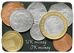 UK Money ceramic magnet