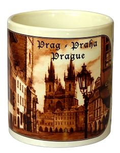 Prague Old Town Square & Tyn brown coffee mug